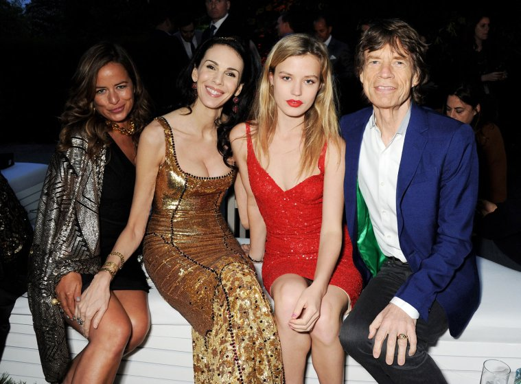 Mick Jagger's daughters, Jade and Georgia May, accompany L'Wren and Mick at the annual Serpentine Gallery Summer Party co-hosted by L'Wren Scott at The Serpentine Gallery on June 26, 2013 in London.