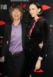 From left: Mick Jagger and L'Wren Scott attend the launch celebration of the Banana Republic L'Wren Scott Collection hosted by Banana Republic, L'Wren Scott and Krista Smith at Chateau Marmont on Nov. 19, 2013 in Los Angeles.