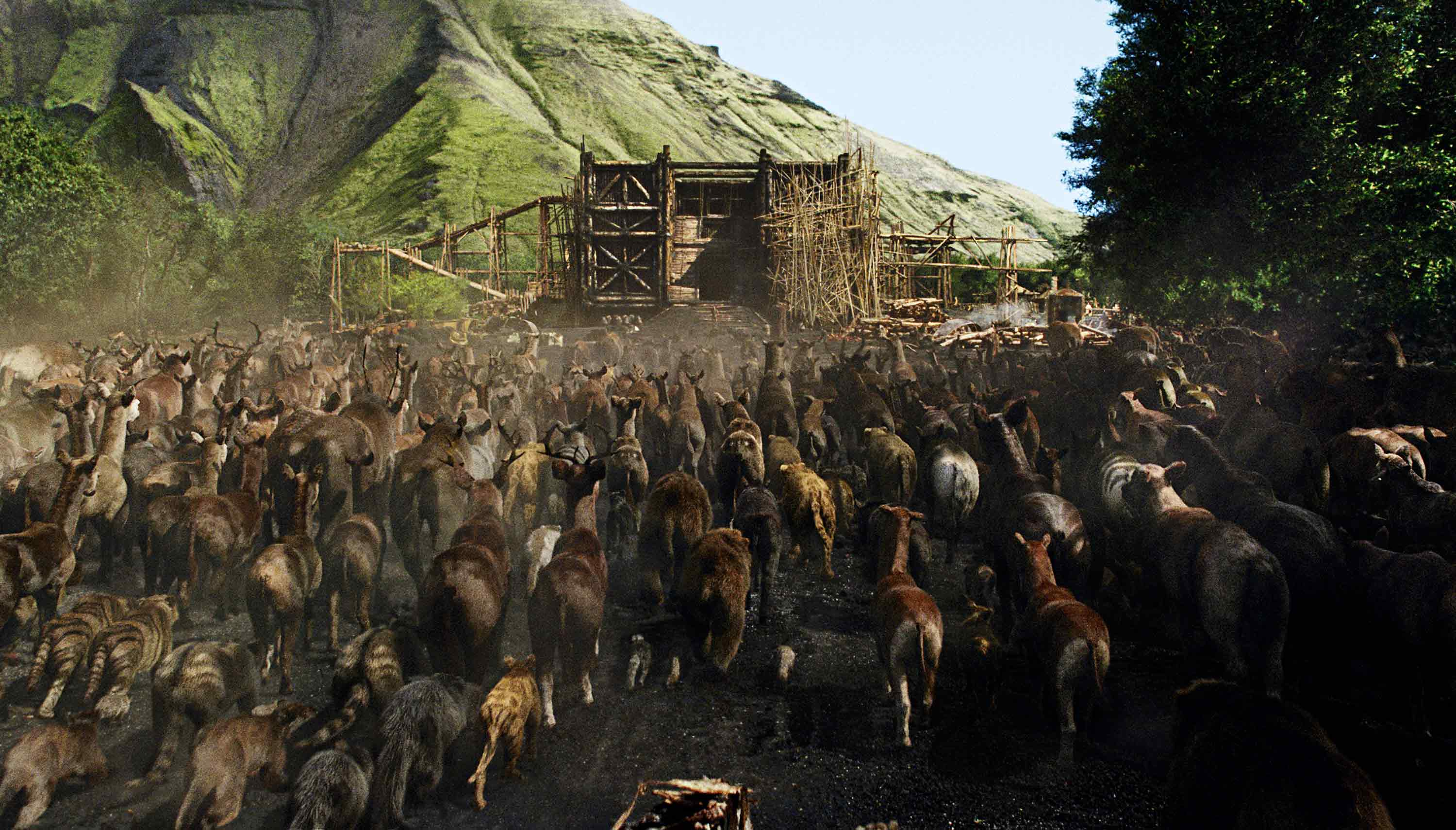 Two by two Aronofsky used digital animals instead of live ones to make Noah