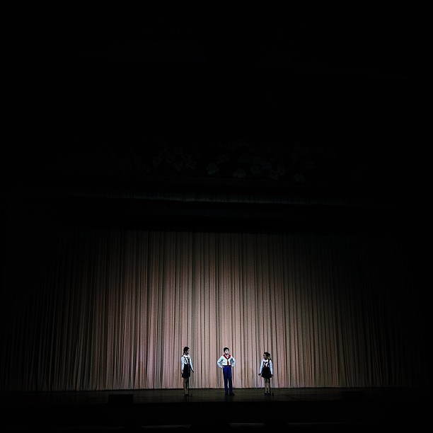 On stage. Mangyondae Children's Palace, April 28, 2013.