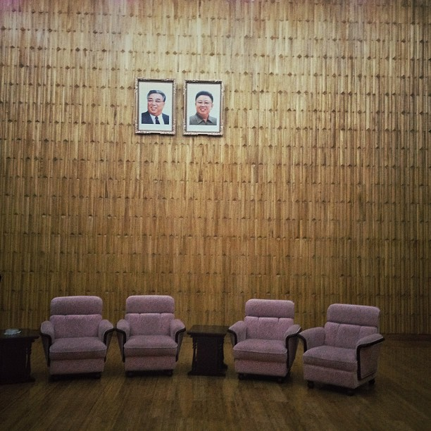 Waiting room, Pyongyang,  April 18, 2013.