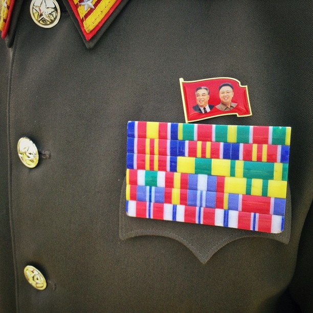 The chest of a North Korean Army Colonel, April 25, 2013.