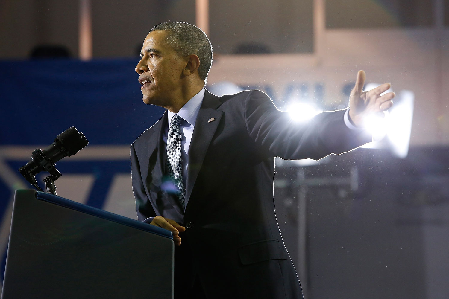 U.S. President Barack Obama speaks at Central Connecticut State University in New Britain, Connecticut March 5, 2014.