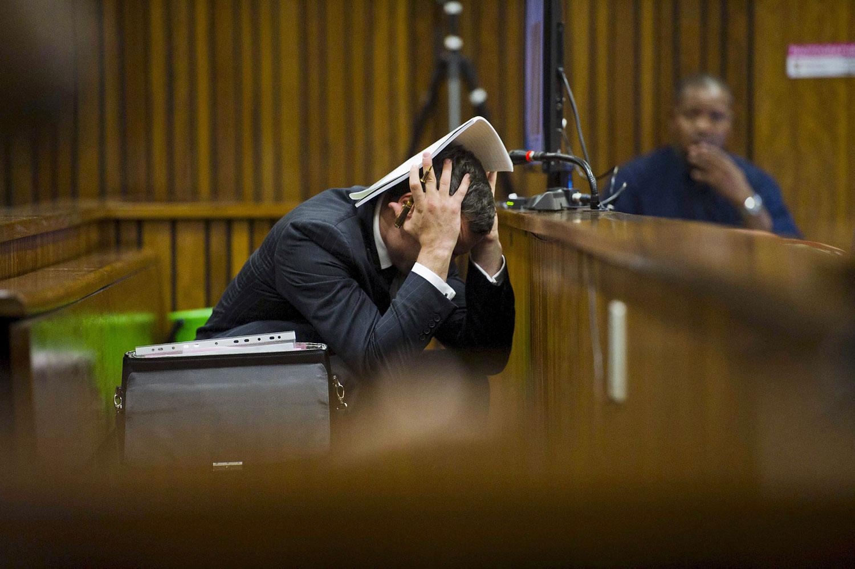 Oscar Pistorius at the Pretoria High Court on March 13, 2014, in Pretoria, South Africa.
