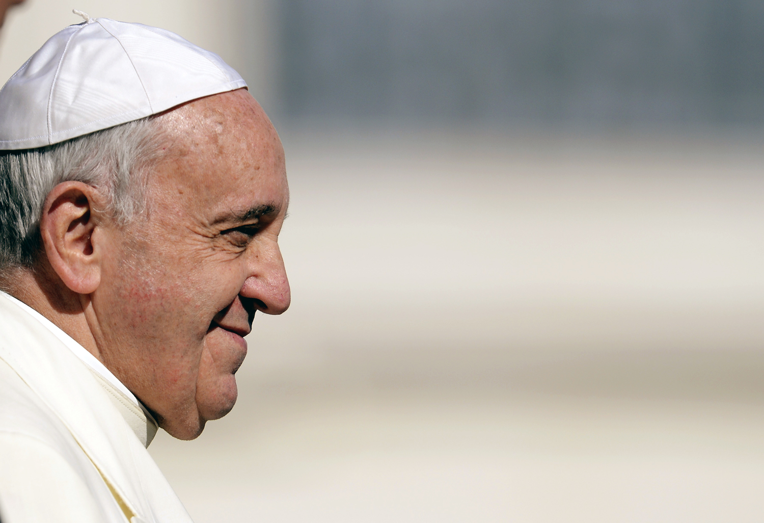 Pope Francis holds his weekly general audience on March 5, 2014 at St. Peter's square in Vatican City.