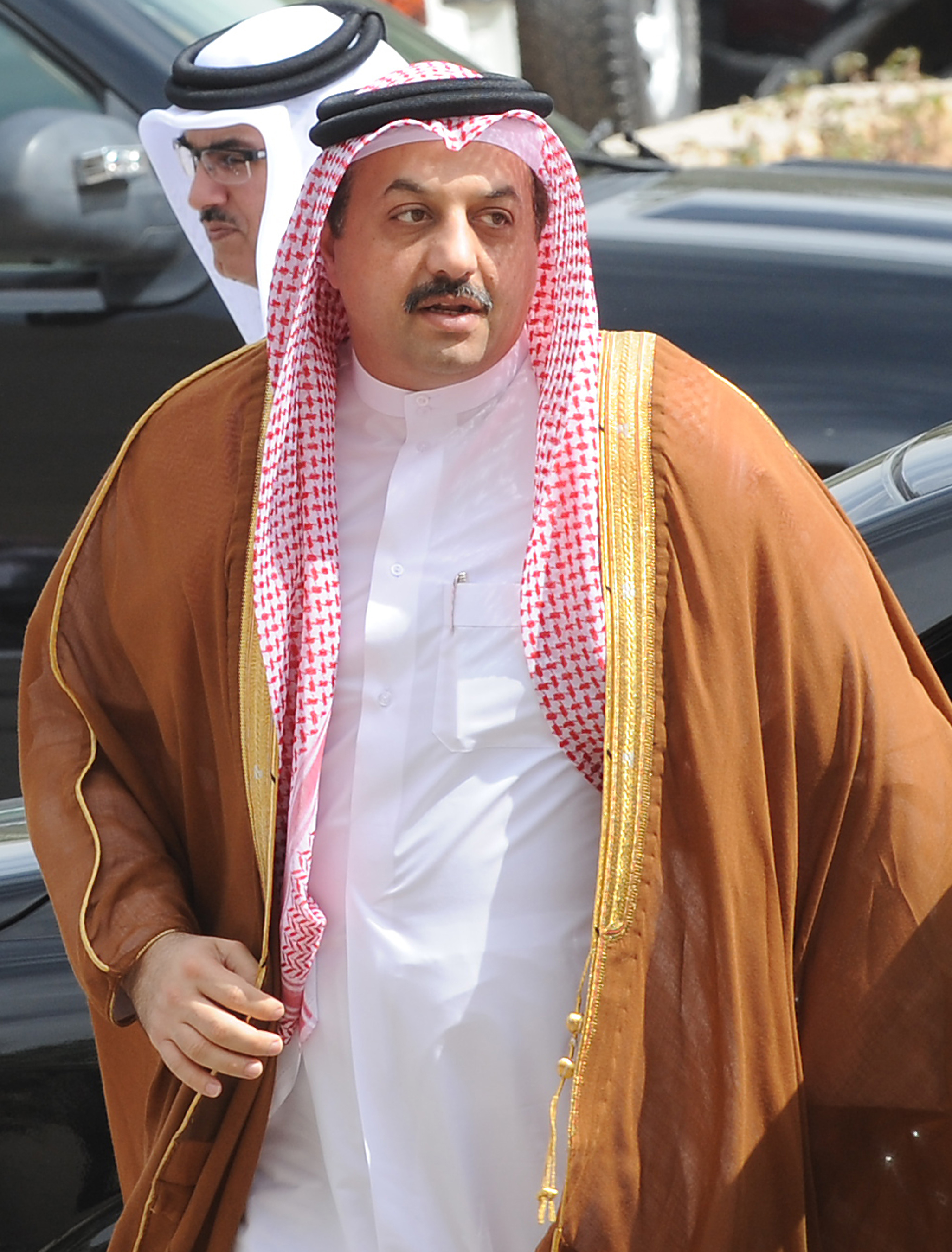 Qatari Foreign Minister Khalid bin Mohammed al-Attiyah arrives to attend the 130th meeting of the Foreign Ministers of the Gulf Cooperation Council (GCC) in Riyadh on March 4, 2014.