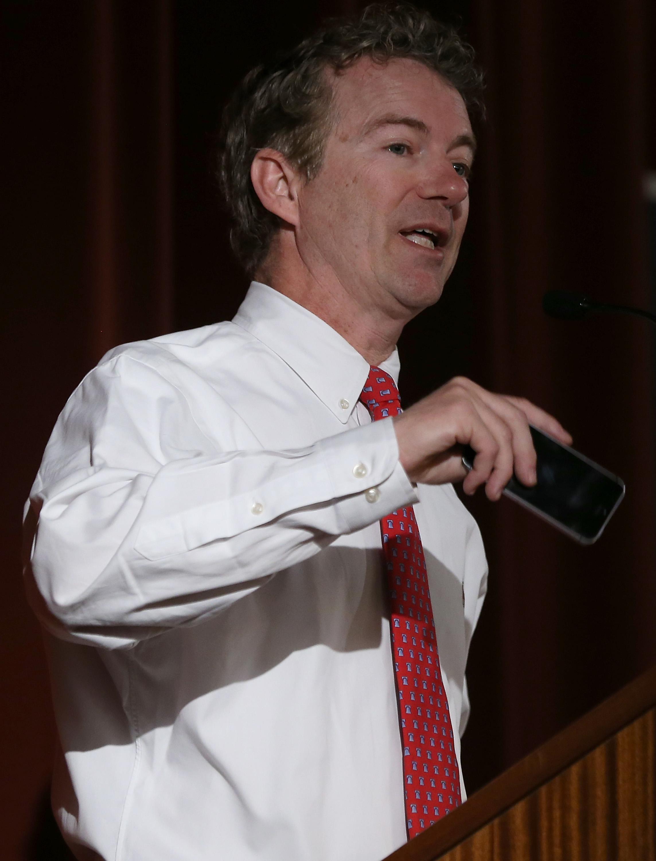 Rand Paul speaking at the University of California, Berkeley, March 19, 2014
