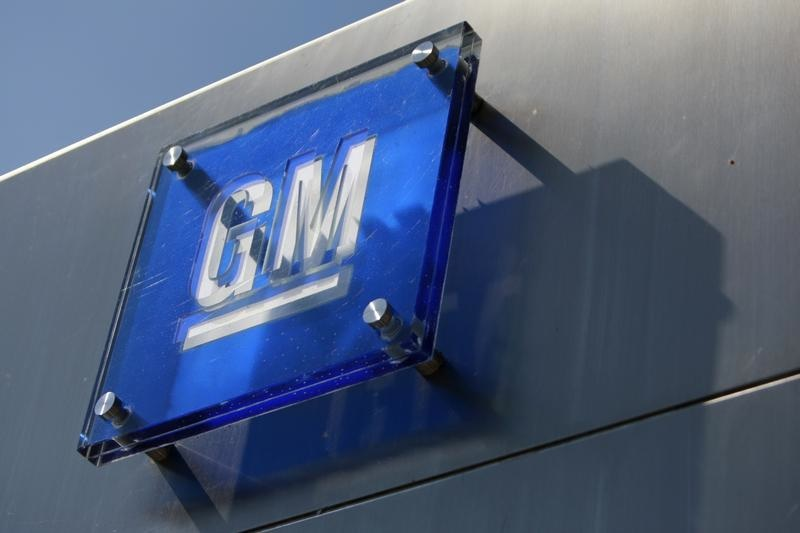 The General Motors logo outside its headquarters at the Renaissance Center in Detroit on Aug. 25, 2009.