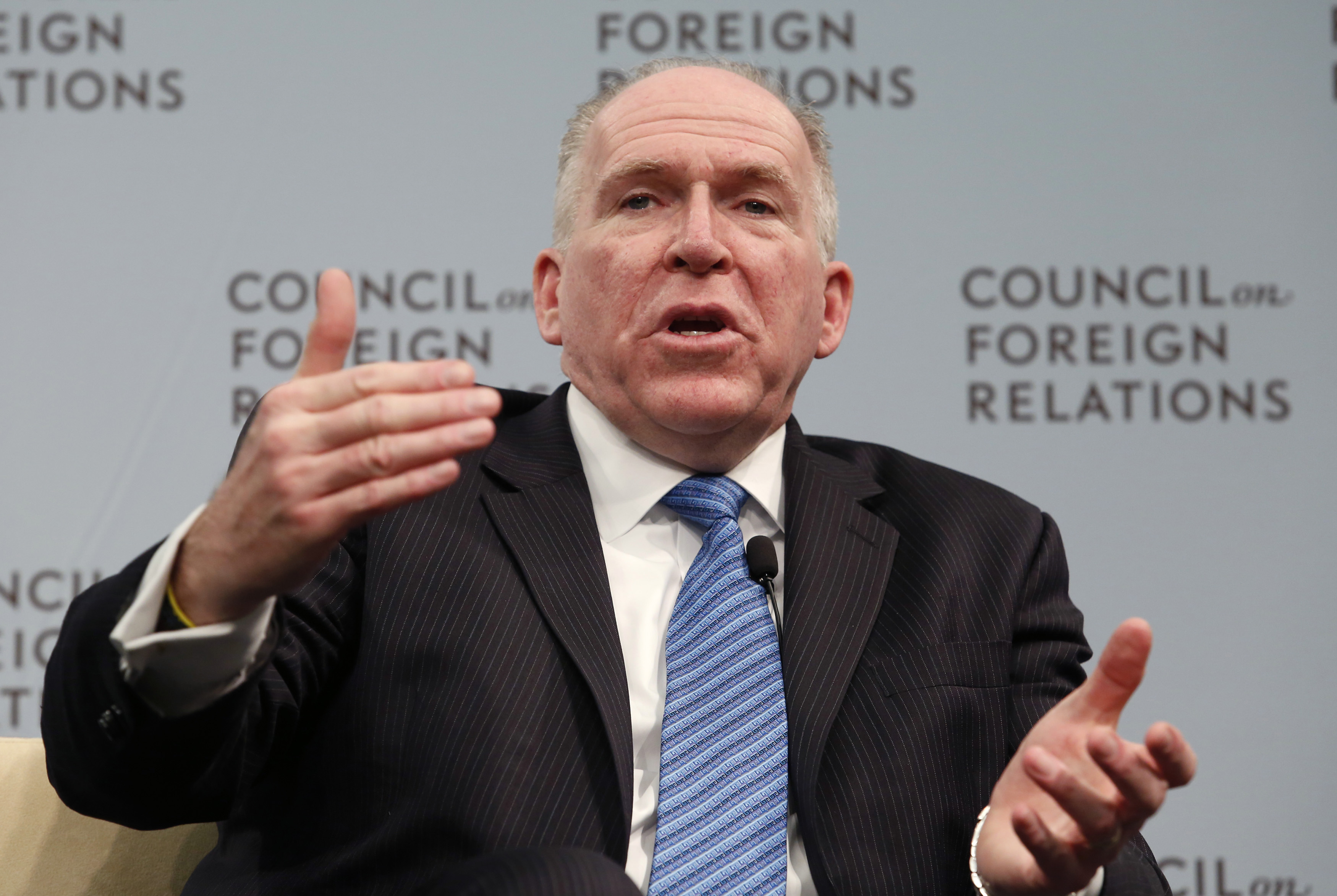 Central Intelligence Agency Director John Brennan speaks at a Council on Foreign Relations forum in Washington March 11, 2014.