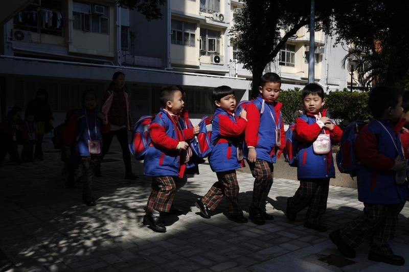 Parents in Hong Kong are often eager to get their kids into certain schools.