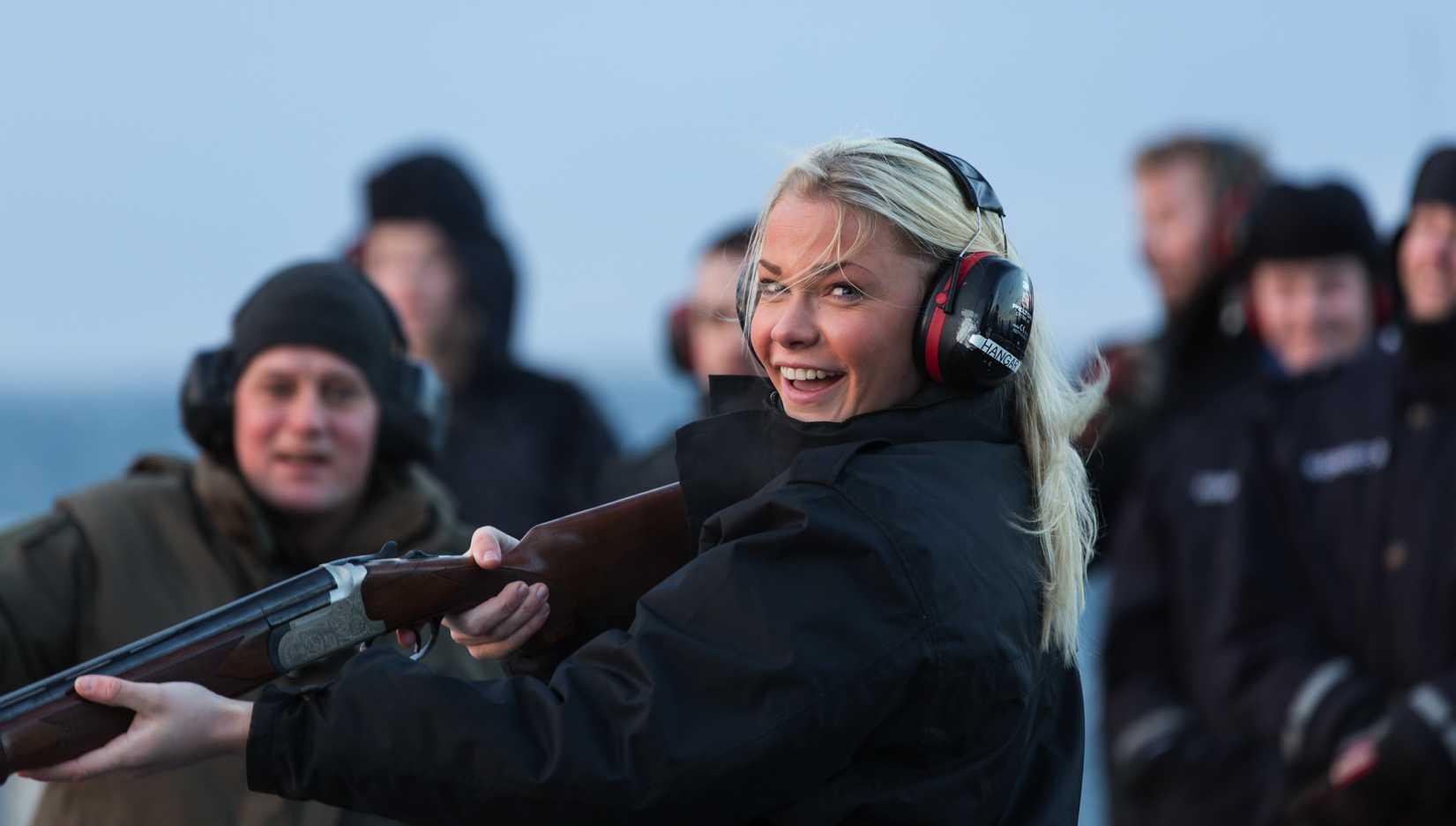 Shotgun firing on board KV Svalbard, the Norwegian Navy's largest vessel.