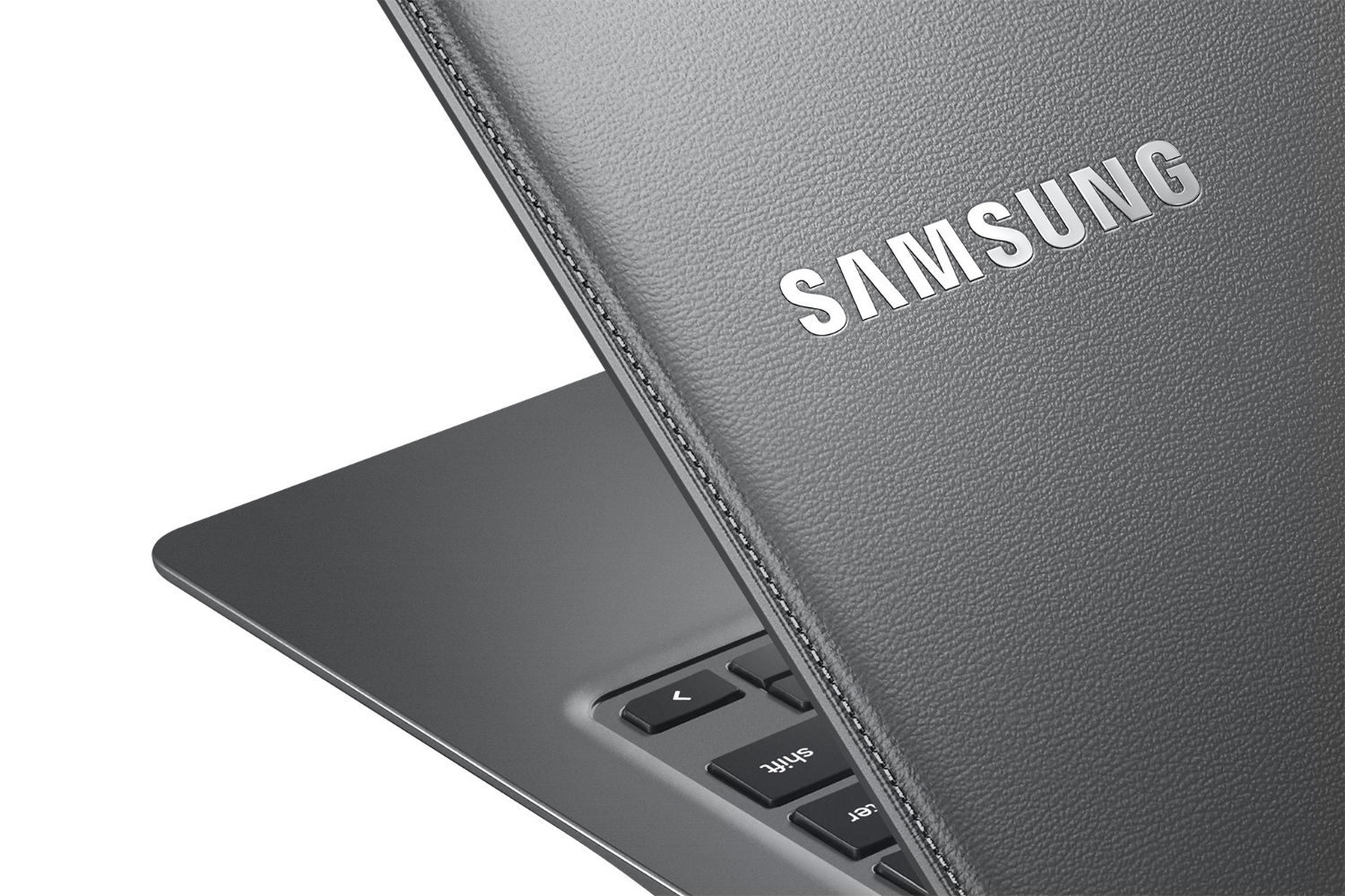 Samsung's faux-leather 13.3  Chromebook 2
