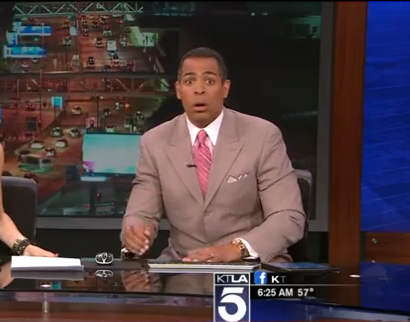 KTLA Reporter's Earthquake Facial Reaction Is Everything | Time
