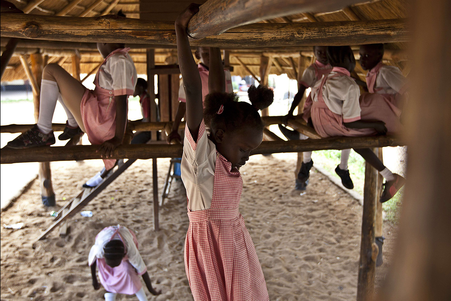 Mar. 25, 2014.                                Pupils at play time in the Ephatha Primary School in Juba. Peace talks between South Sudan's government and rebels resumed in Ethiopia on Tuesday, mediators said, urging both sides to return to a moribund ceasefire agreement.