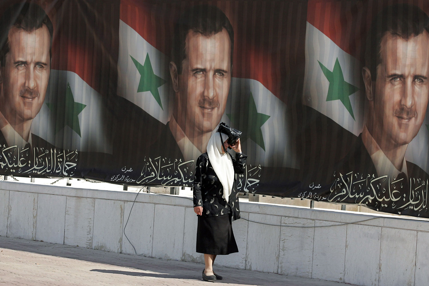Portraits of President Bashar Assad seen in Damascus during the previous presidential poll in May 2007.