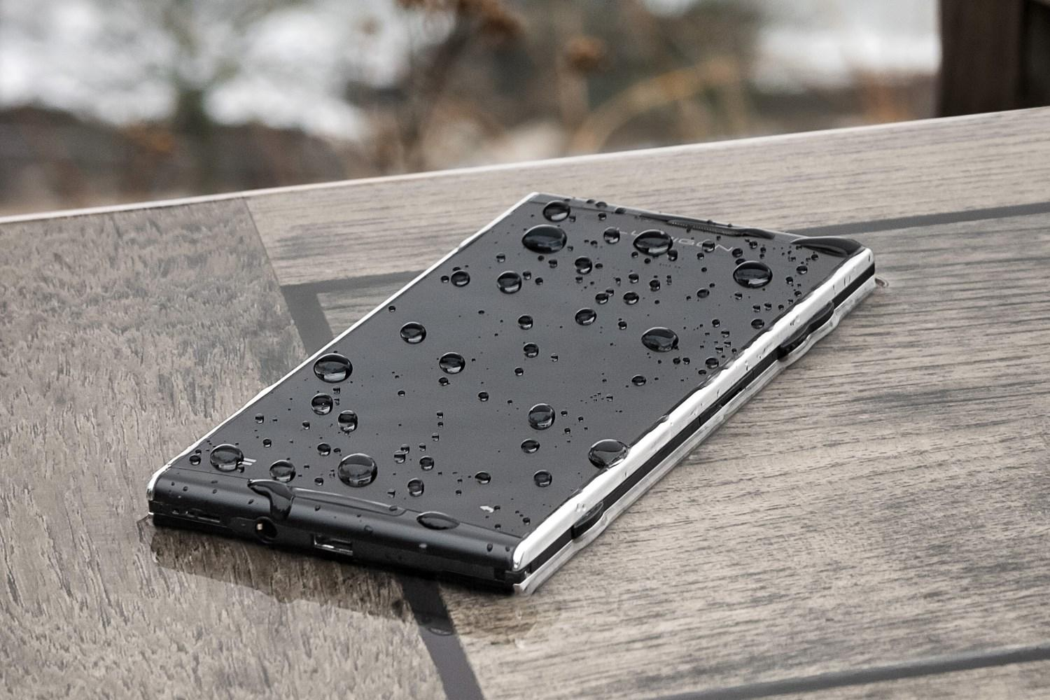 The Lumigon T2 HD Android phone features a front-facing flash and is water-resistant.