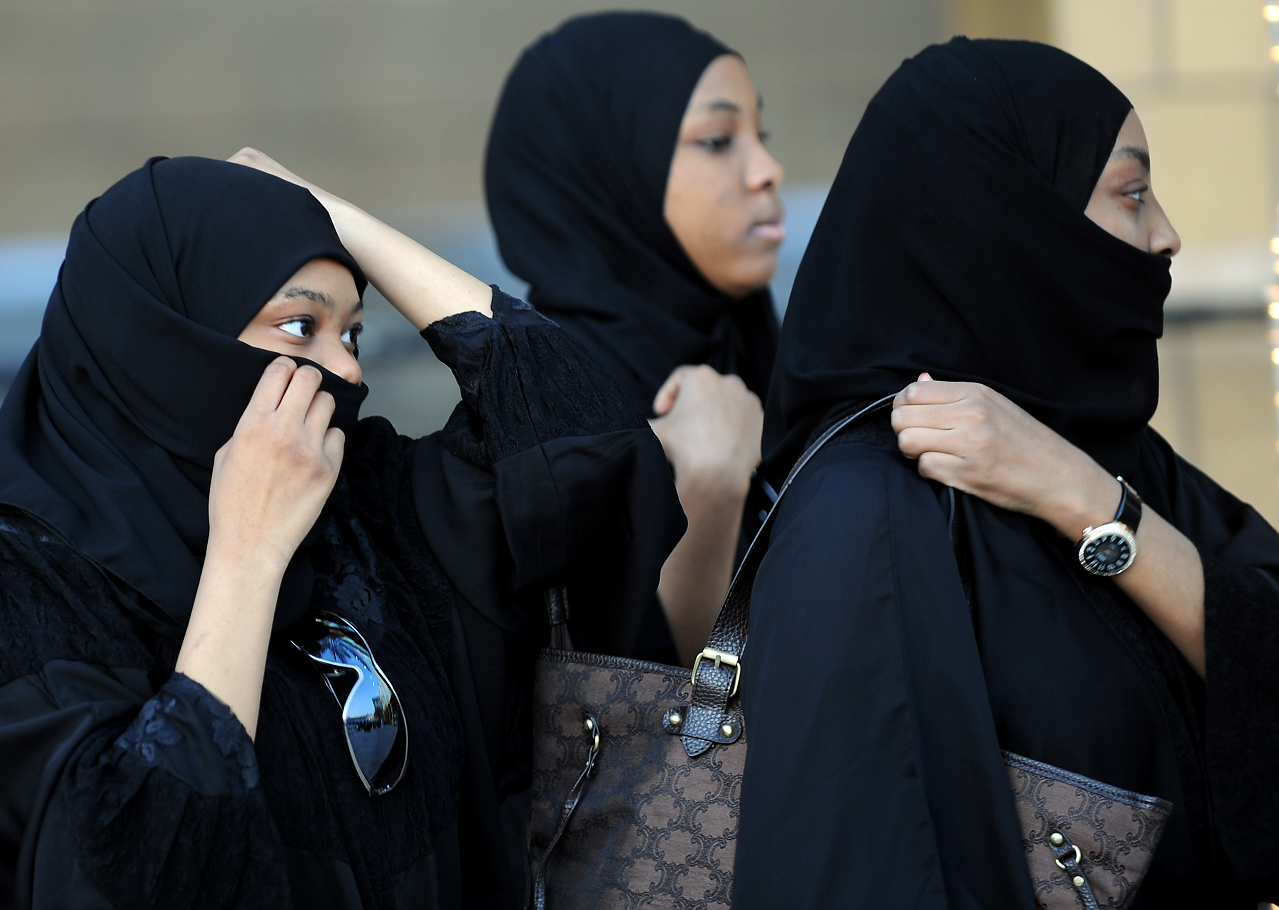 Saudi women attend prayers at a mosque in Riyadh. Women's-rights groups are gaining influence in the kingdom.