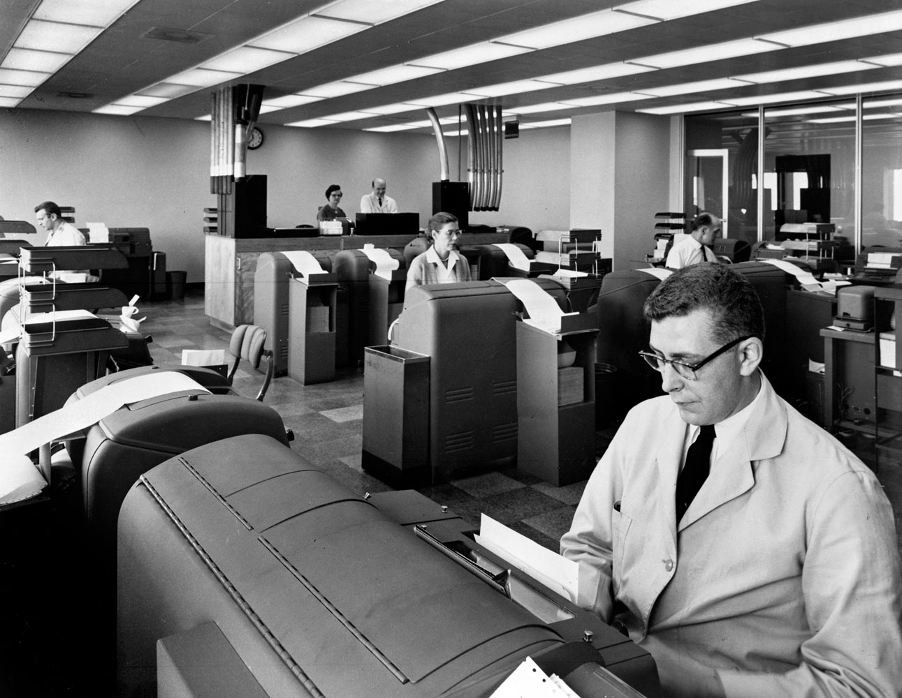 Before email, dispatches from an international network of stringers and reporters would arrive around the clock to the machines in this room, which were then sent to editors at TIME.
