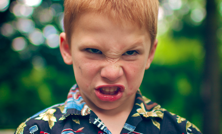 Is this child angry, or just pretending?