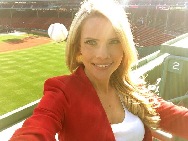 It looks a whole lot like Fox Sports Florida's Kelly Nash is about to get beaned in this selfie, but the baseball whizzed safely past her head.