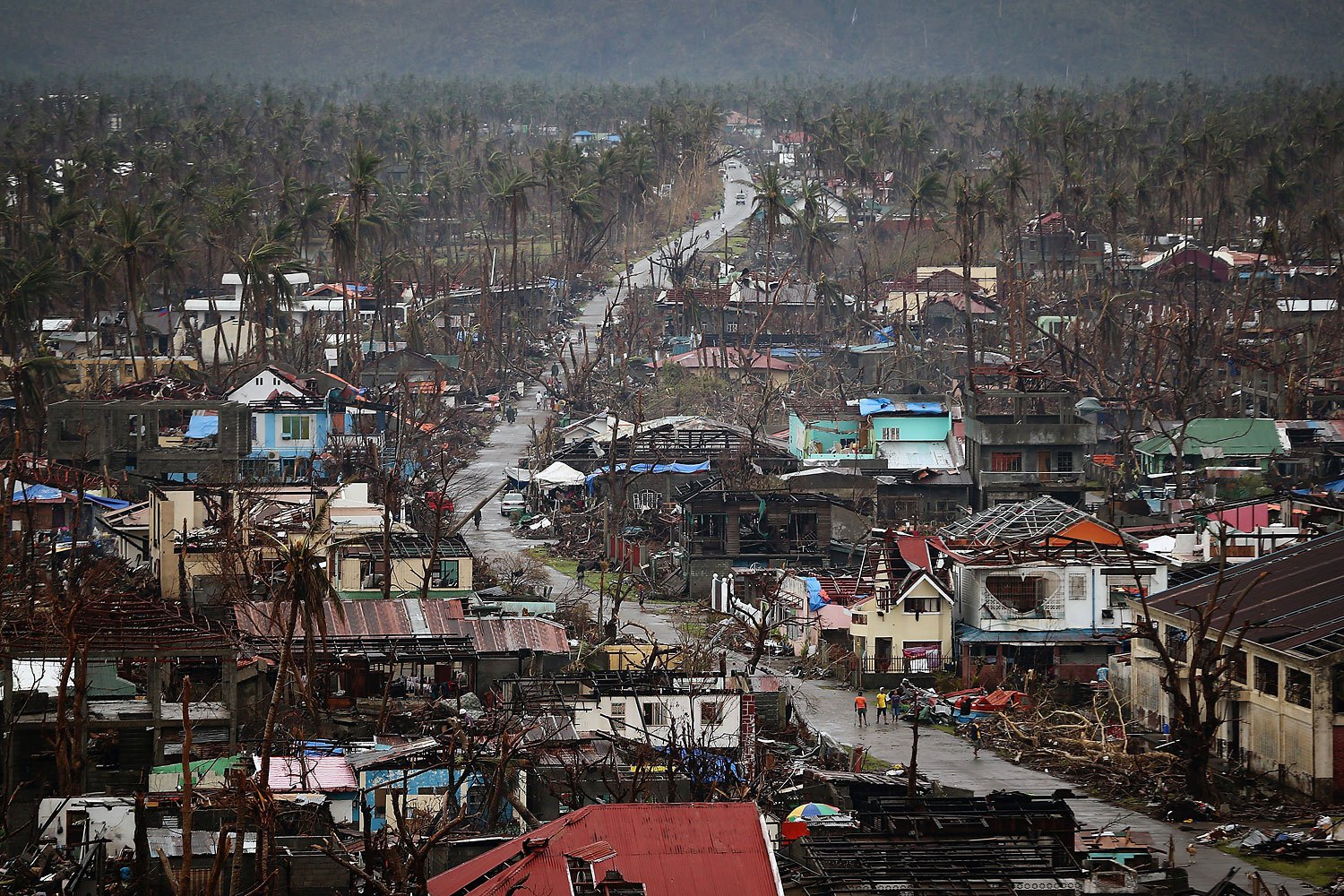 A general view of the destruction in Tolosa on November 21, 2013 in Leyte, Philippines.