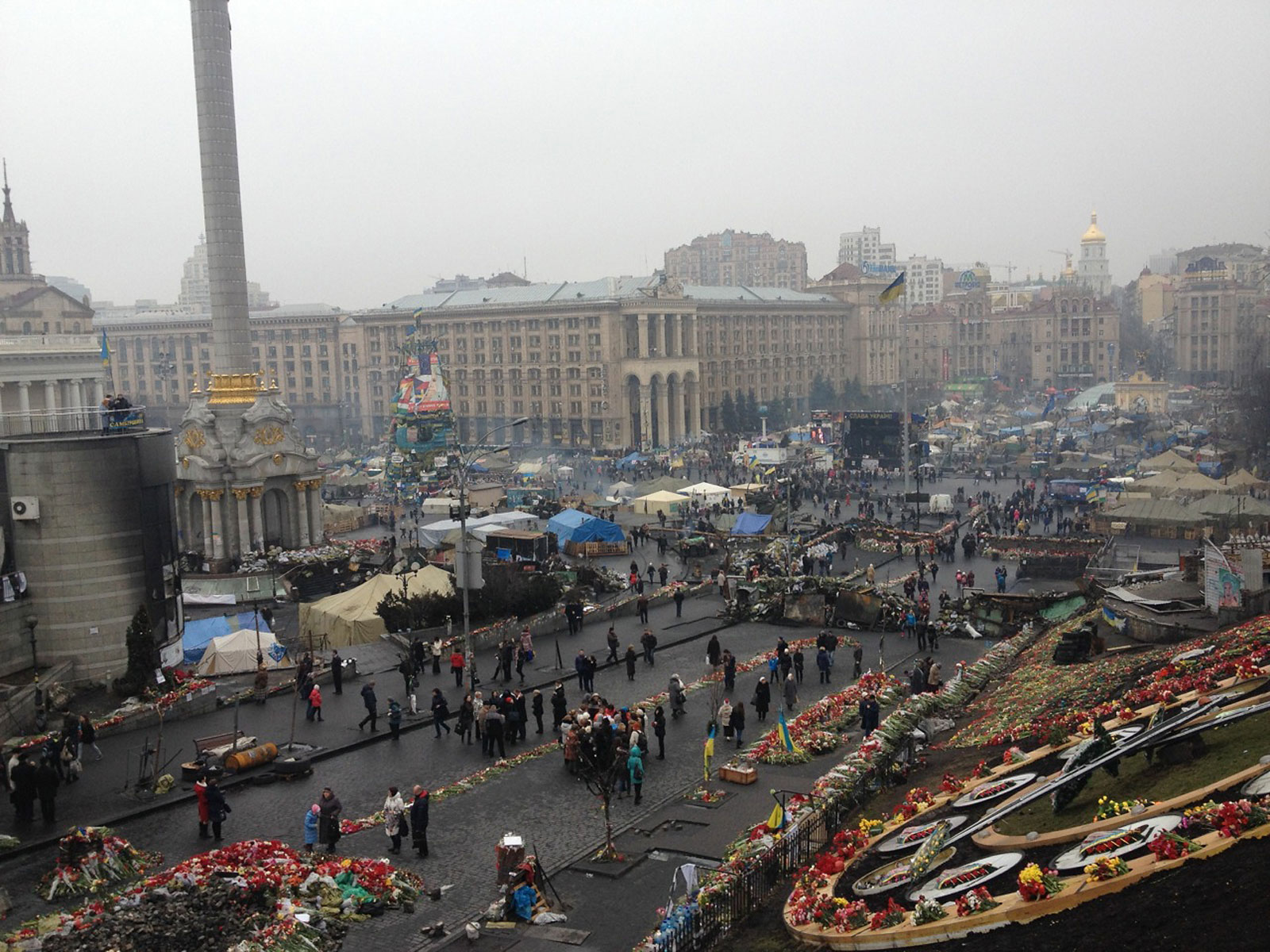 The Maidan: Kiev's Independence Square, March 6, 2014.