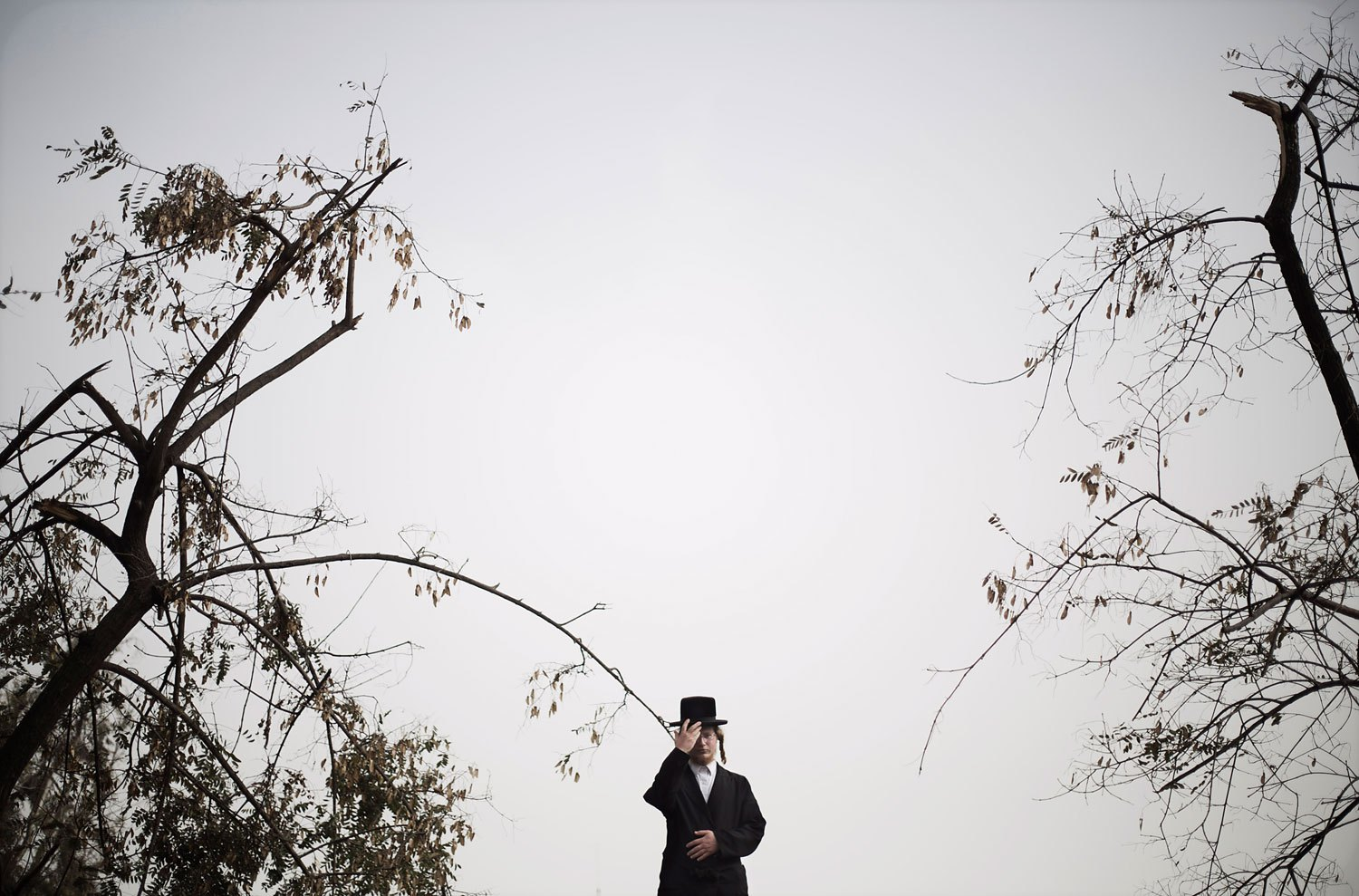 An ultra-Orthodox Jewish man attends a rally in Jerusalem, March 2, 2014.
