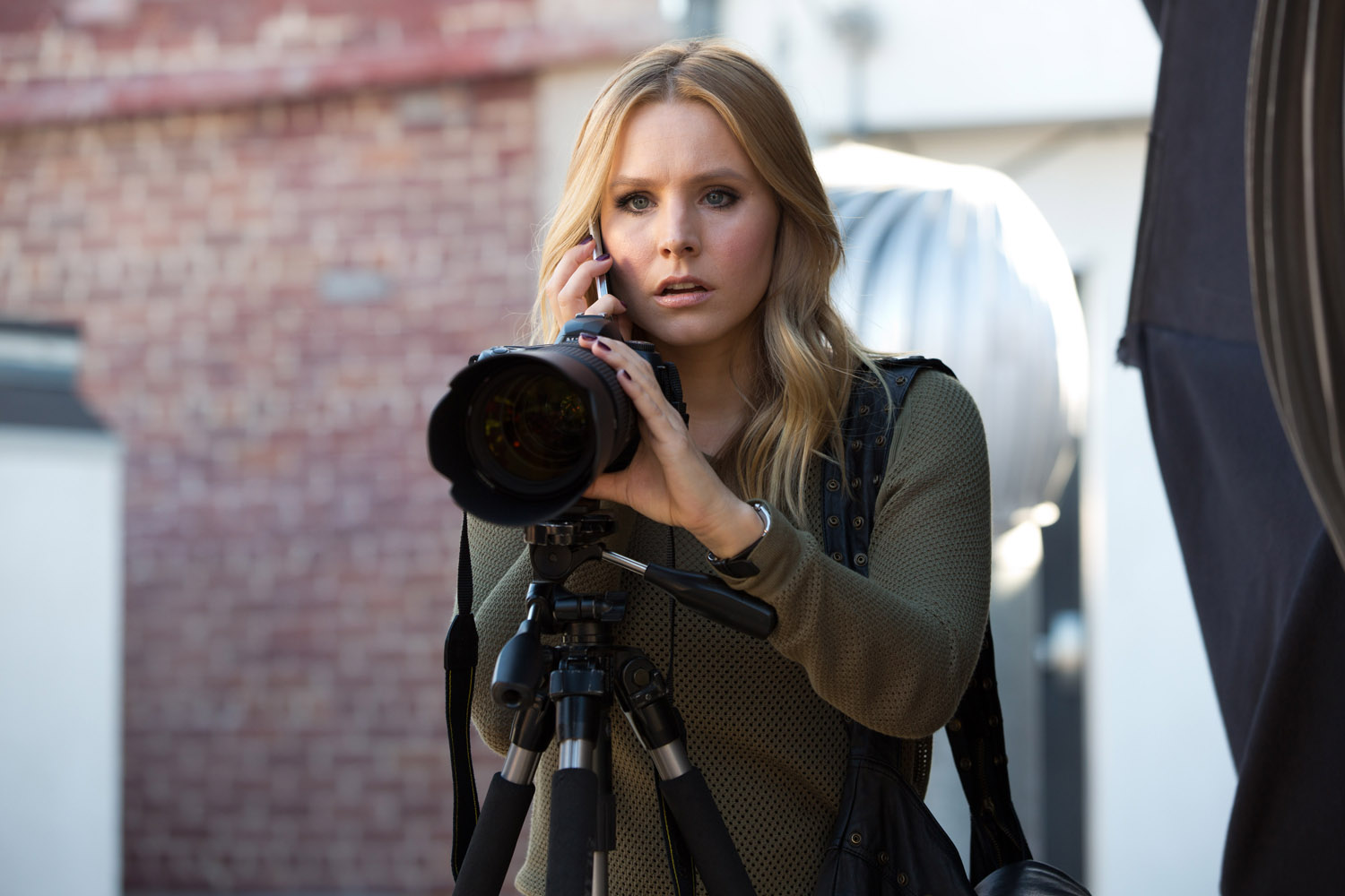 Kristen Bell as Veronica Mars in  Veronica Mars.
