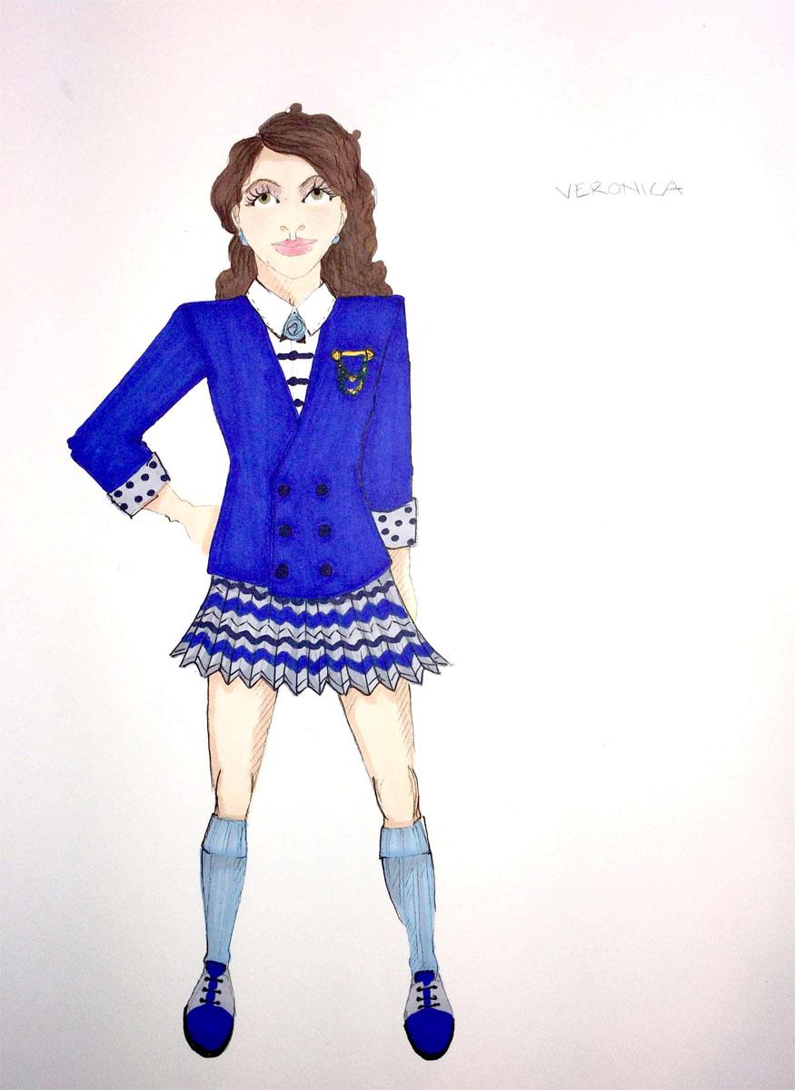 Veronica, post-makeover
