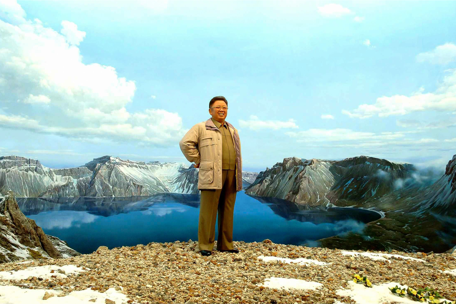 Apr. 9, 2014.  An undated photo released by the Rodong Sinmun, the newspaper of North Korea's ruling Workers Party, shows a wax statue of former North Korean leader Kim Jong-il set up at the International Friendship Exhibition, a museum complex near Mount Myohyang, north of Pyongyang, North Korea.