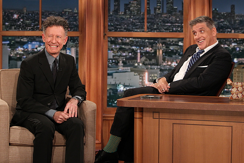 Lyle Lovett and Ferguson on the April 23, 2014 Late Late Show.