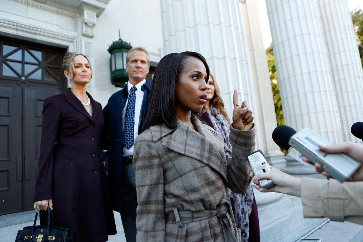 <b><i>Scandal</i>, 2012-present:</b> Washington shot to superstardom as Olivia Pope on the addictive D.C. drama. Pope is the head of a crisis management firm who gets entangled in White House drama.