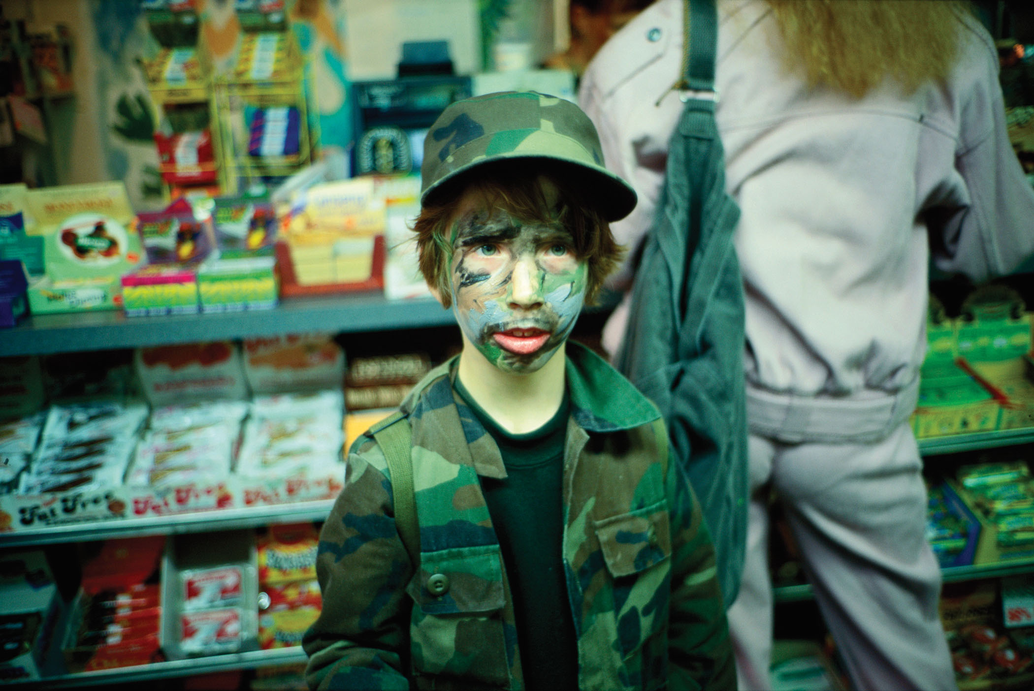 Io in camouflage, NYC, 1994