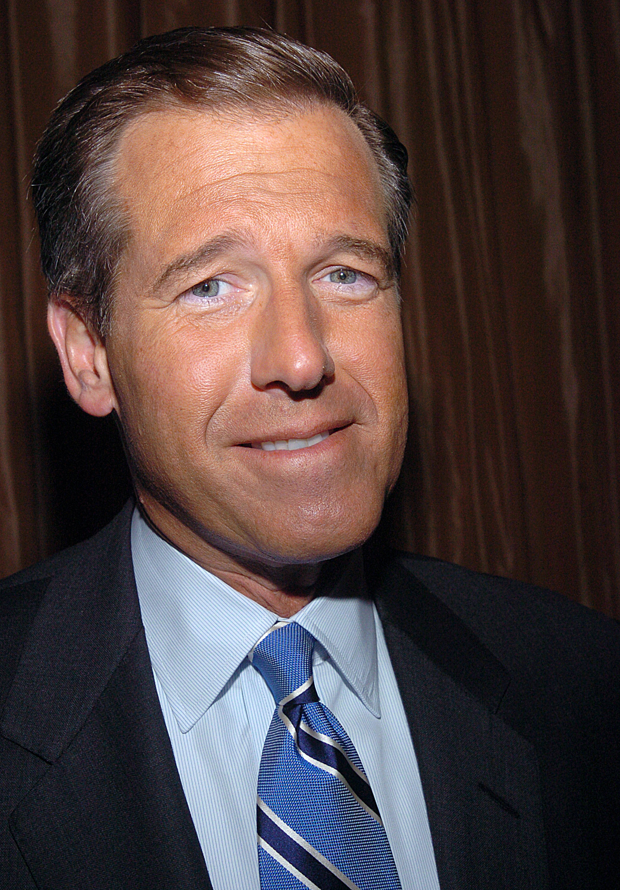 Brian Williams of NBC News during The Committee to Protect Journalists Honors Walter Cronkite's 25 Years of Service as Honorary Chairman at Cafe Gray