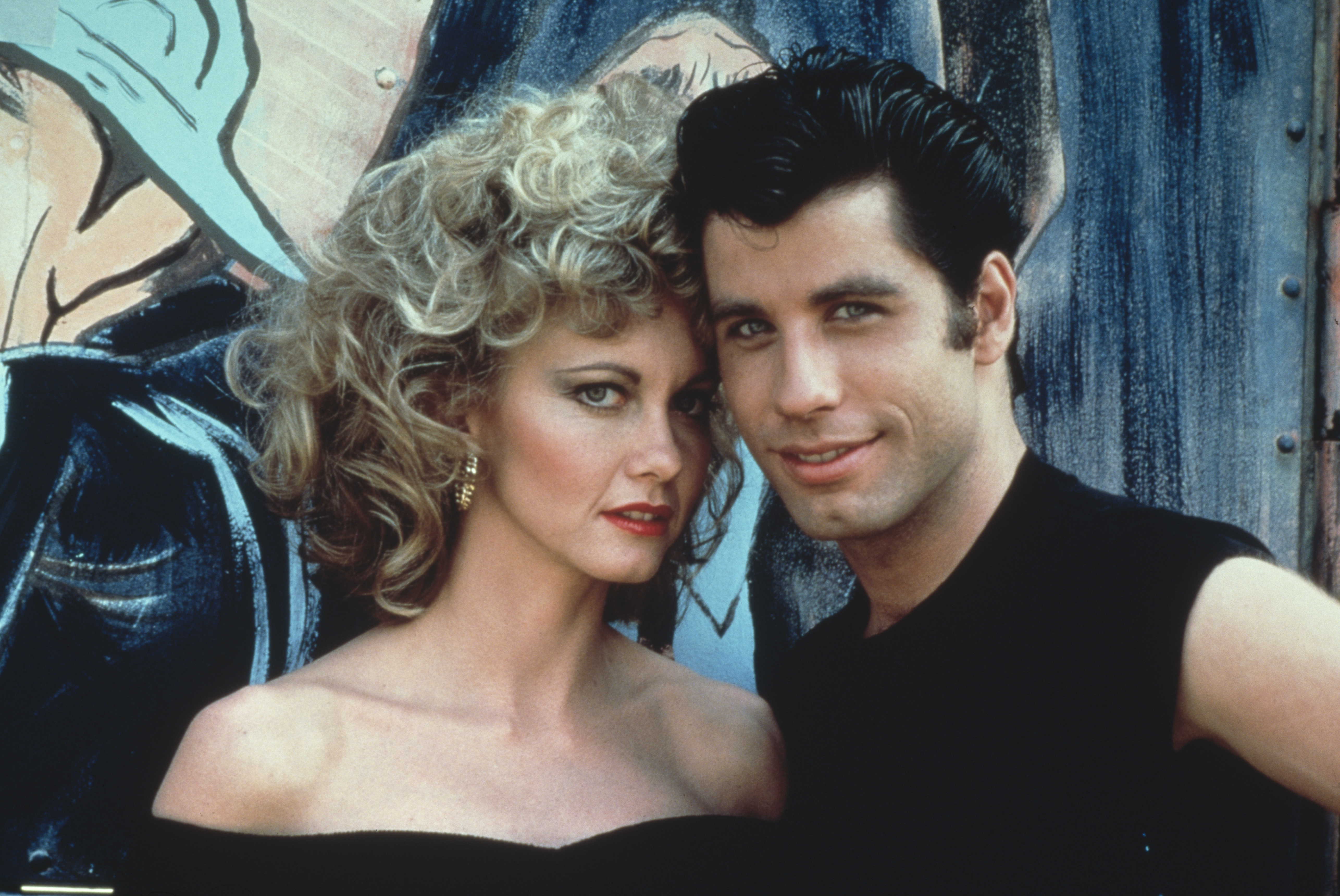 Australian singer and actress Olivia Newton-John and American actor John Travolta as they appear in the Paramount film 'Grease', 1978. (Photo by Paramount Pictures/Fotos International/Getty Images)