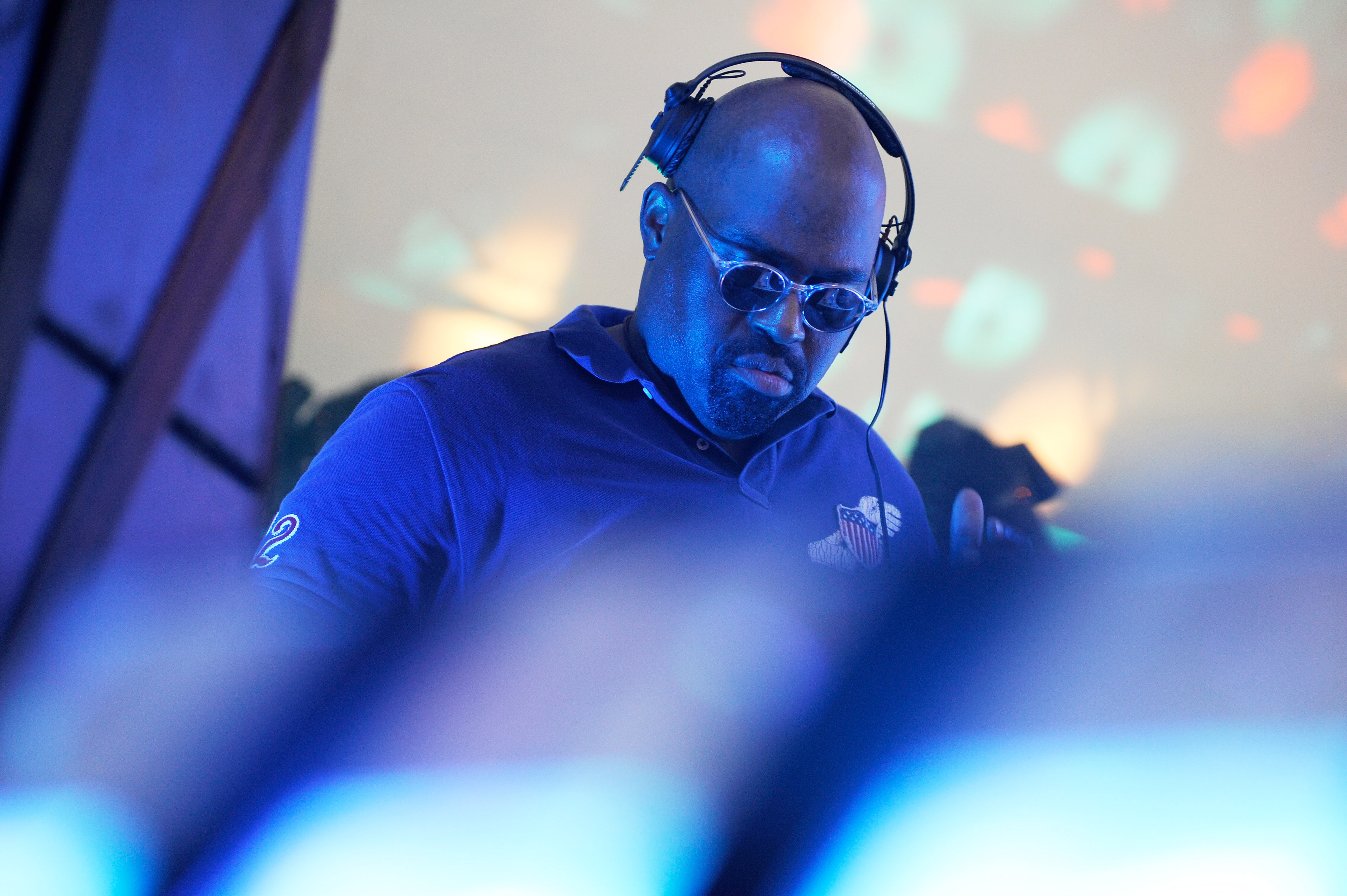 Frankie Knuckles on Randall's Island on September 6, 2009 in New York City. The house DJ passed away on March 31, 2014.