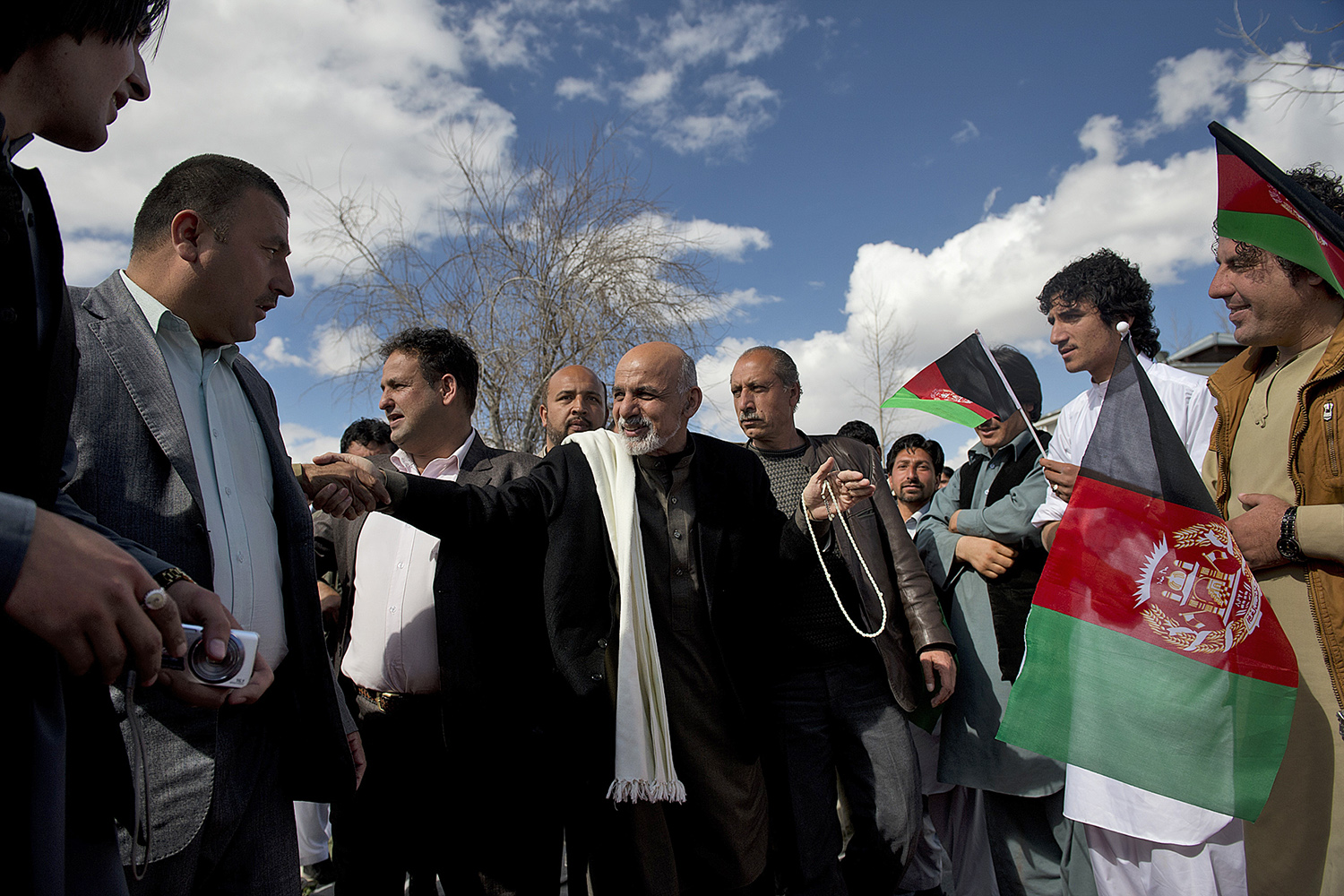 Afghan Presidential candidate Ashraf Ghani holds a rally in Kabul, Afghanistan, March 24, 2014.