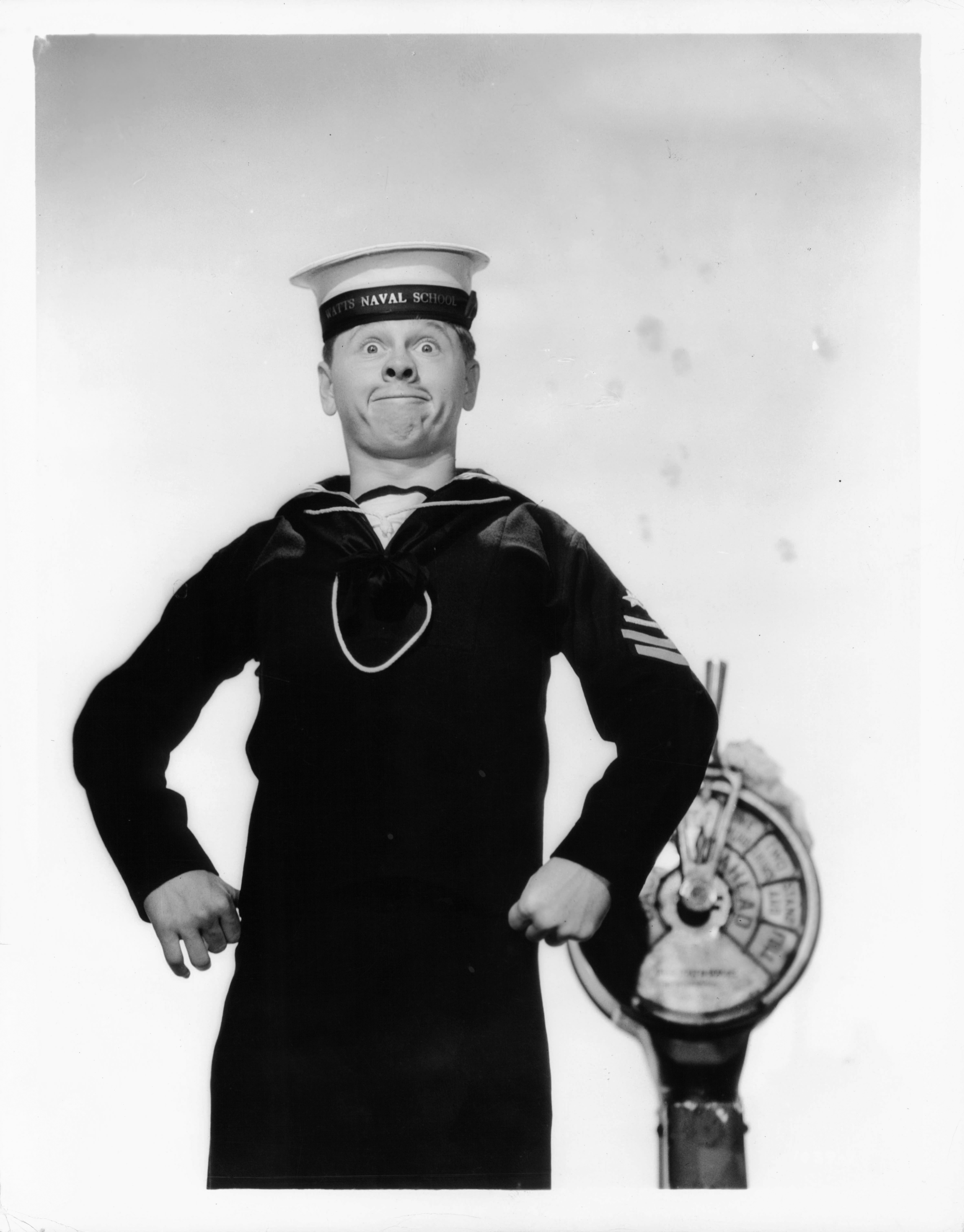 Mickey Rooney in a scene from the film <i>Lord Jeff</i> in 1938.