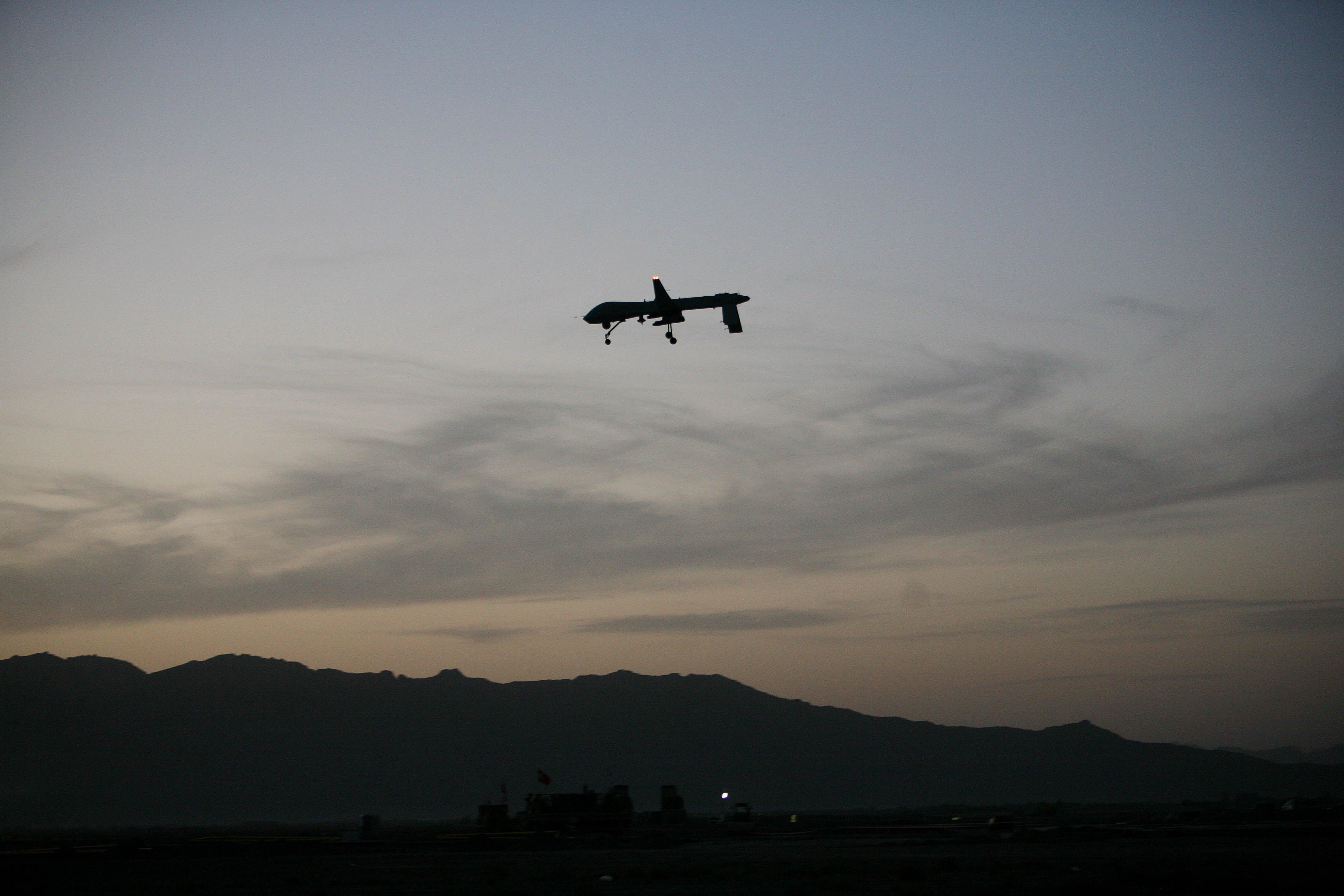 A Predator drone flies over Afghanistan.