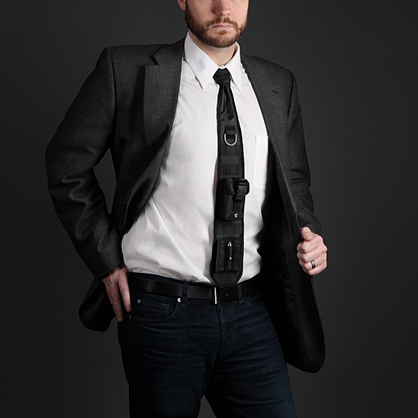 ThinkGeek's April Fools' tie features a laser pointer and more.