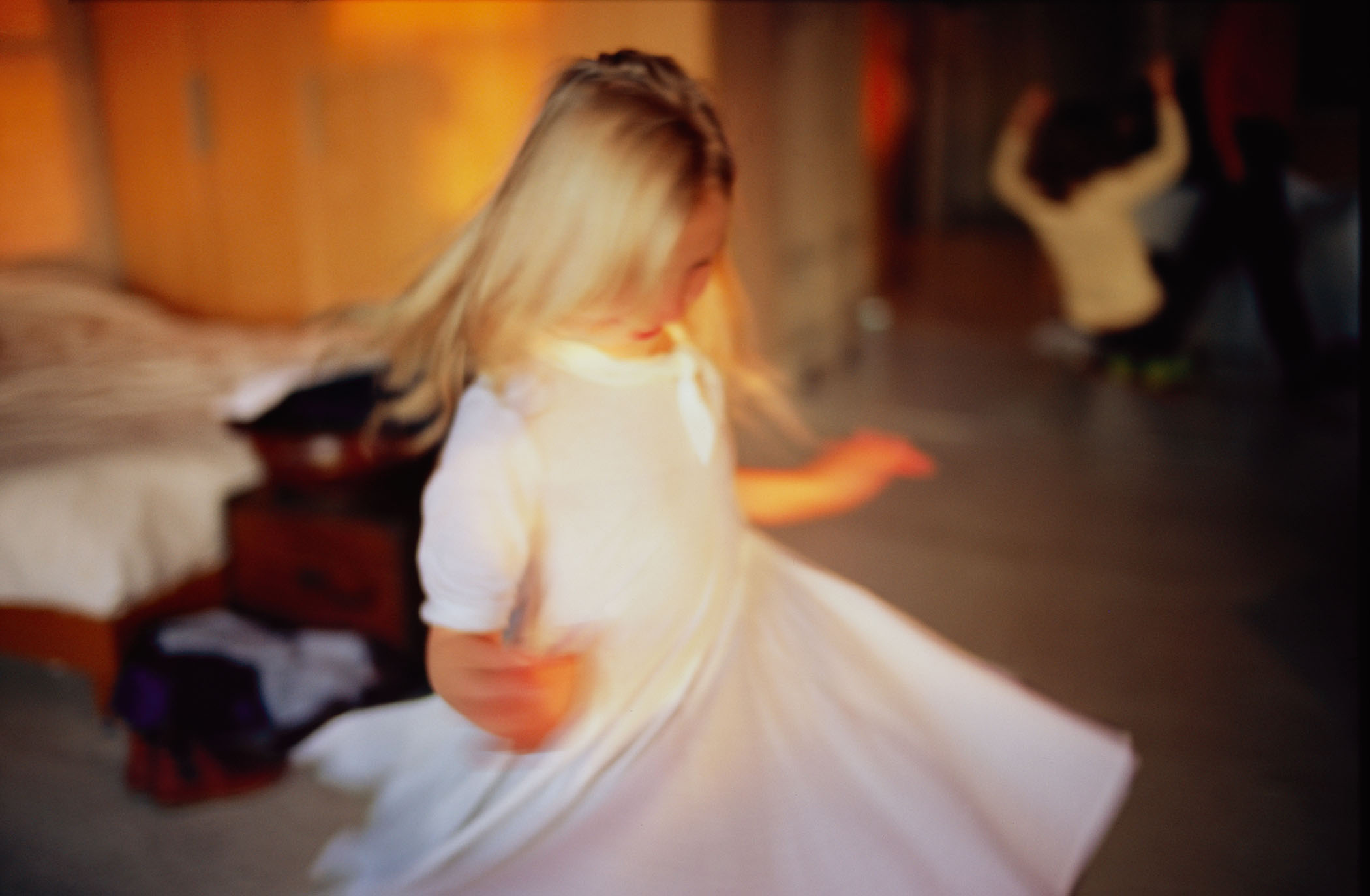 Ava twirling, NYC, 2007