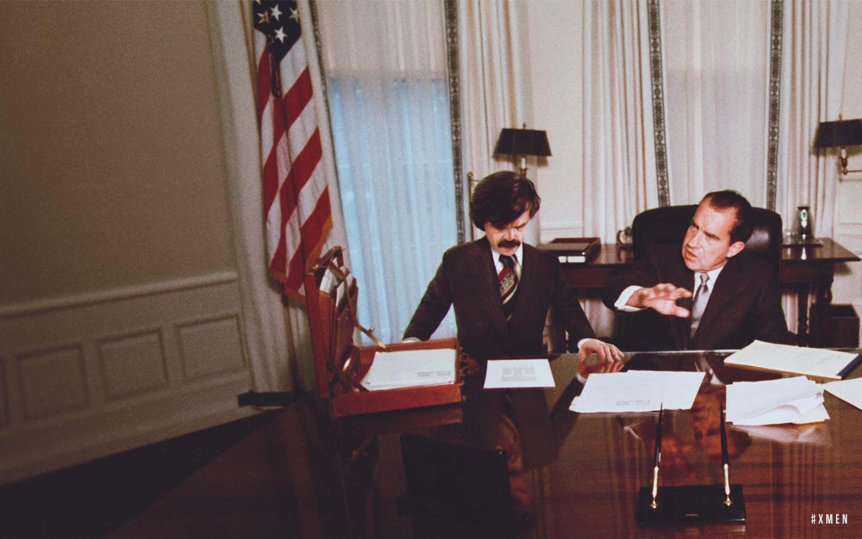 Congressional investigators seeking evidence of an improper relationship between Trask Industries and the Nixon White House are stymied when they discover that 18½ minutes of a meeting between Bolivar Trask and President Nixon have been completely erased.