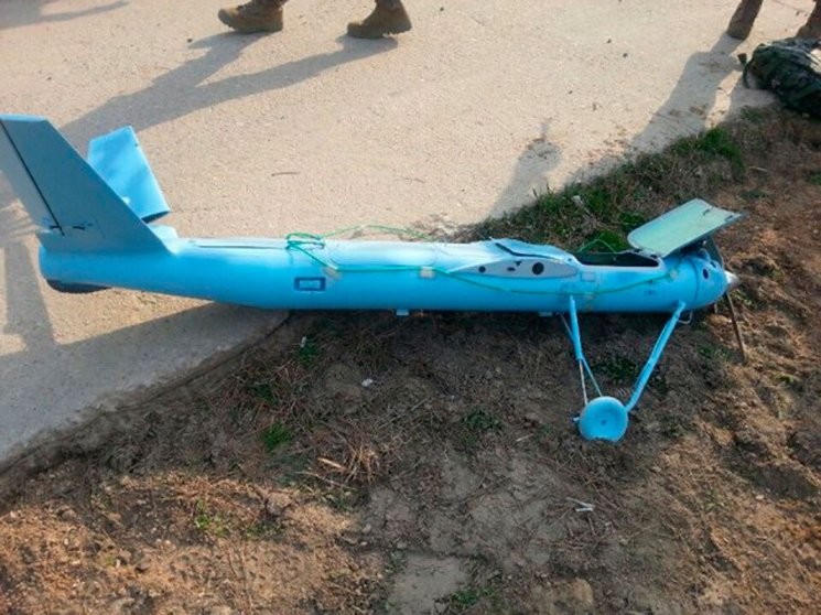 A crashed unmanned drone is seen on Baengnyeongdo, an South Korean island near the border with North Korea in a picture released by Yohnap on April 1, 2014.