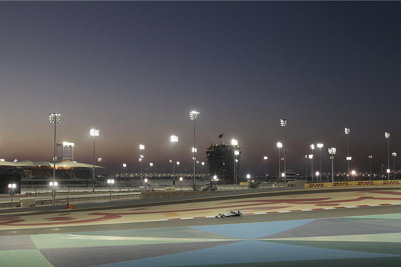 Apr. 6, 2014. Mercedes Formula One driver Lewis Hamilton of Britain drives during the Bahrain F1 Grand Prix at the Bahrain International Circuit (BIC) in Sakhir, south of Manama.