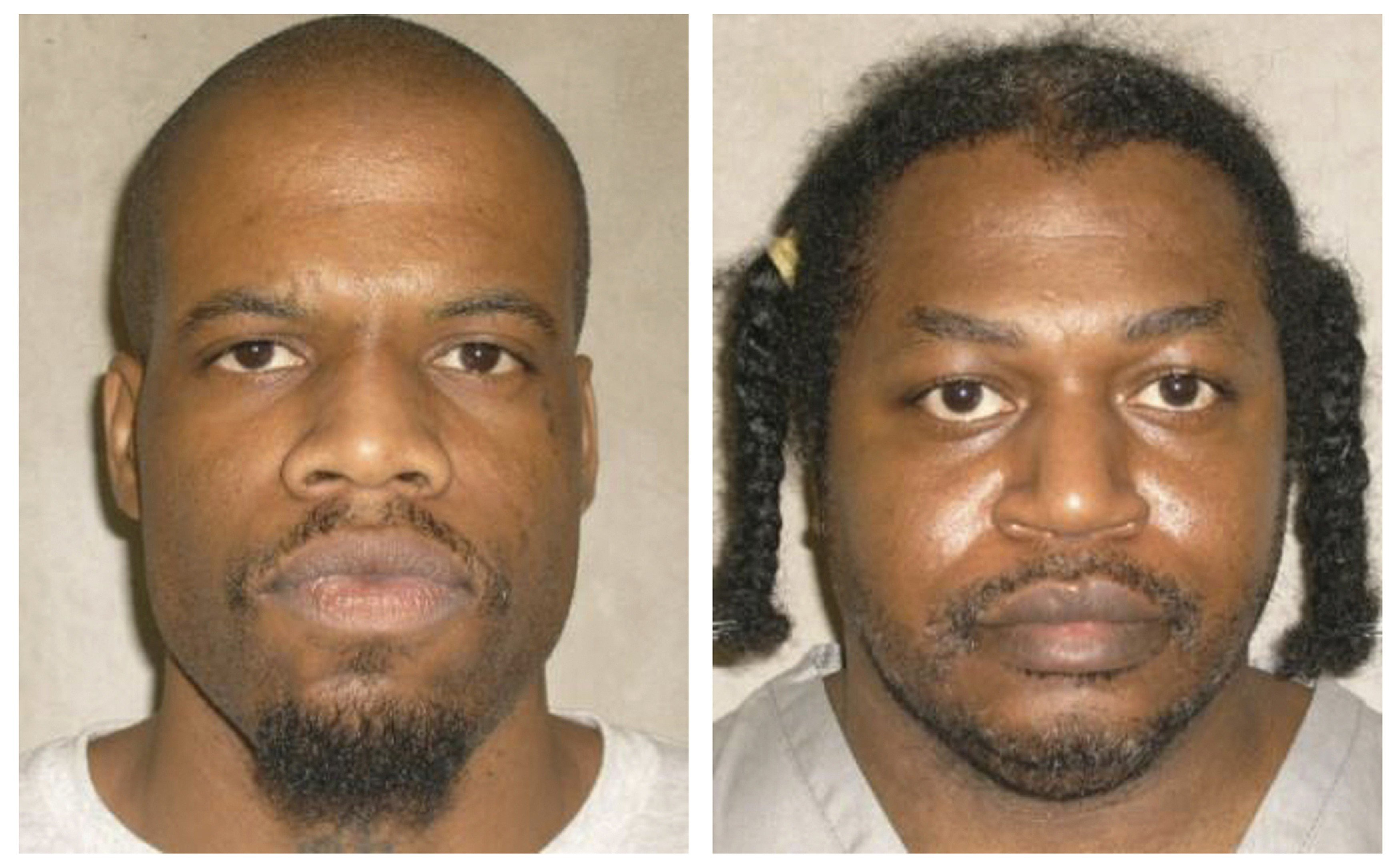 Death row inmates Charles Warner, right, and Clayton Lockett are seen in a combination of pictures from the Oklahoma Department of Corrections dated June 29, 2011.