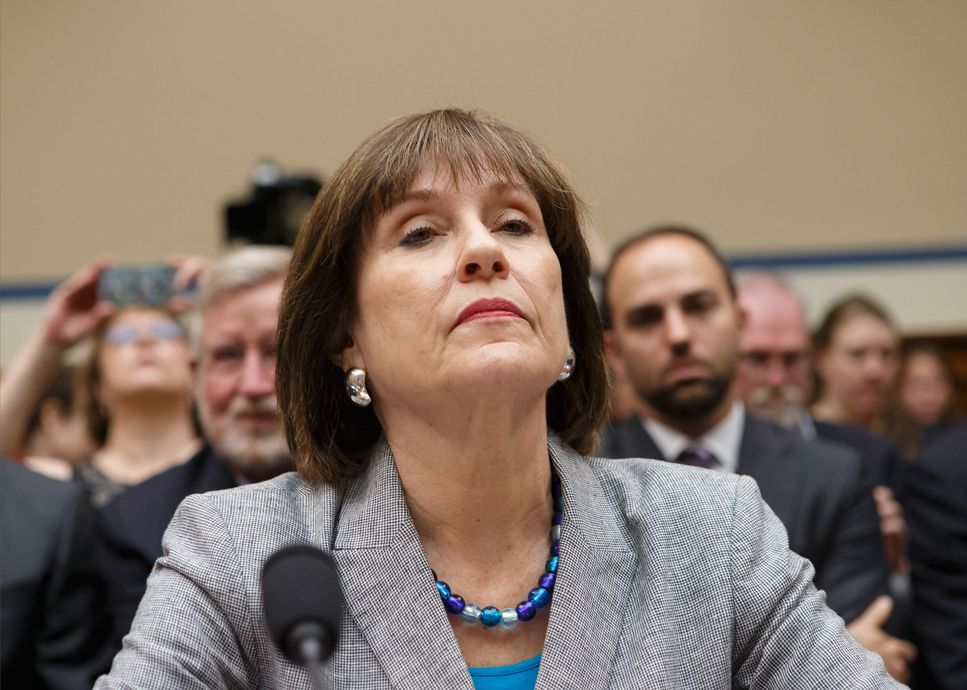 Internal Revenue Service official Lois Lerner during a hearing by the House Oversight Committee on Capitol Hill in Washington, May 22, 2013.