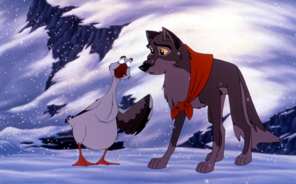 Balto                               Hoskins tried his hand at voice acting voicing a Russian snow goose named Boris in the 1995 animated historical drama Balto.