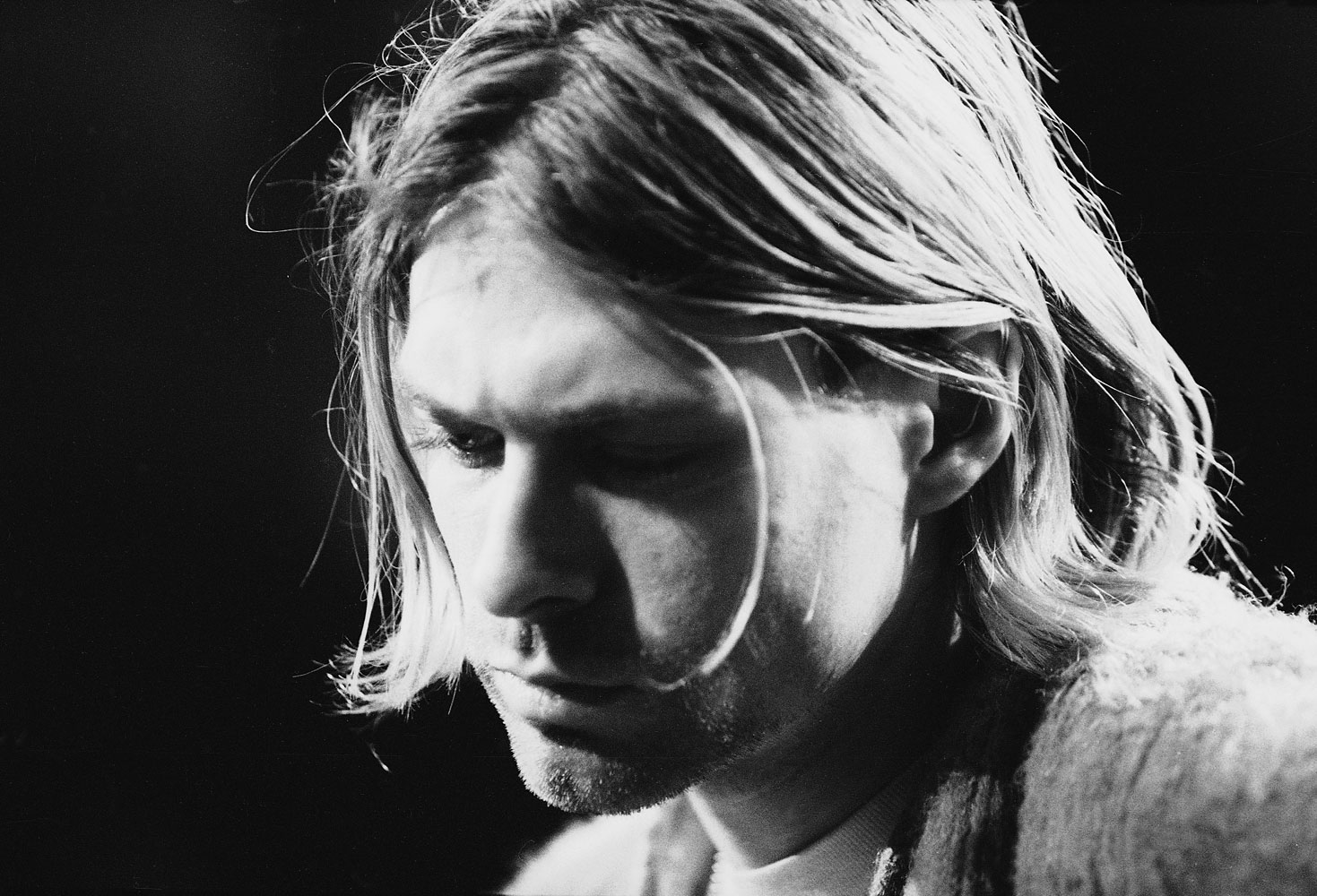 Kurt Cobain during a taping of 'MTV Unplugged,' New York, Nov. 18, 1993.