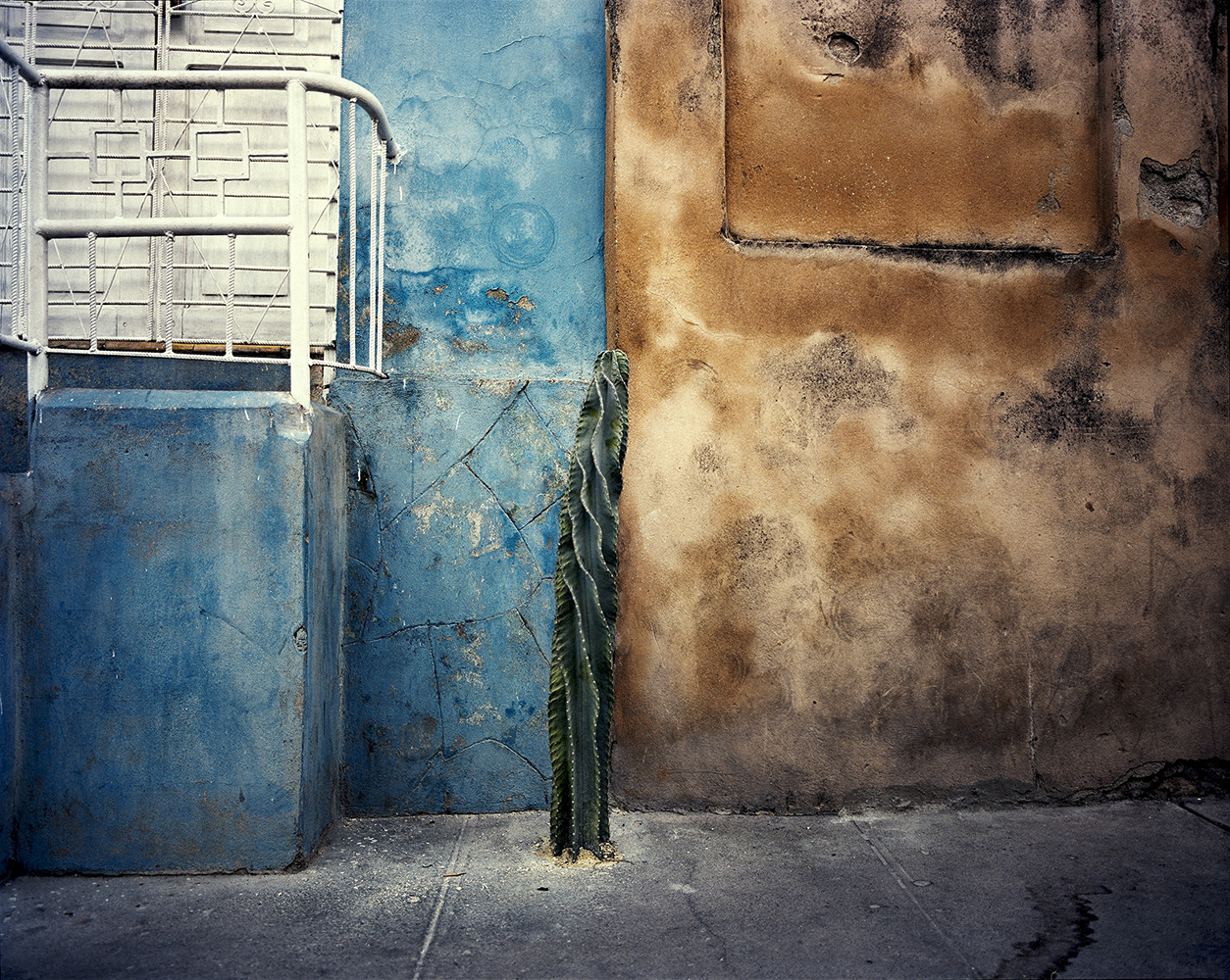 Colorful Santiago de Cuba street.
