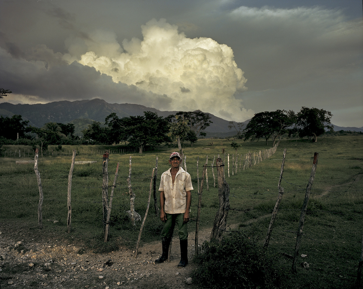 Carlos, a retired veterinarian, works in a cooperative in El Brujo, Santiago de Cuba Province.